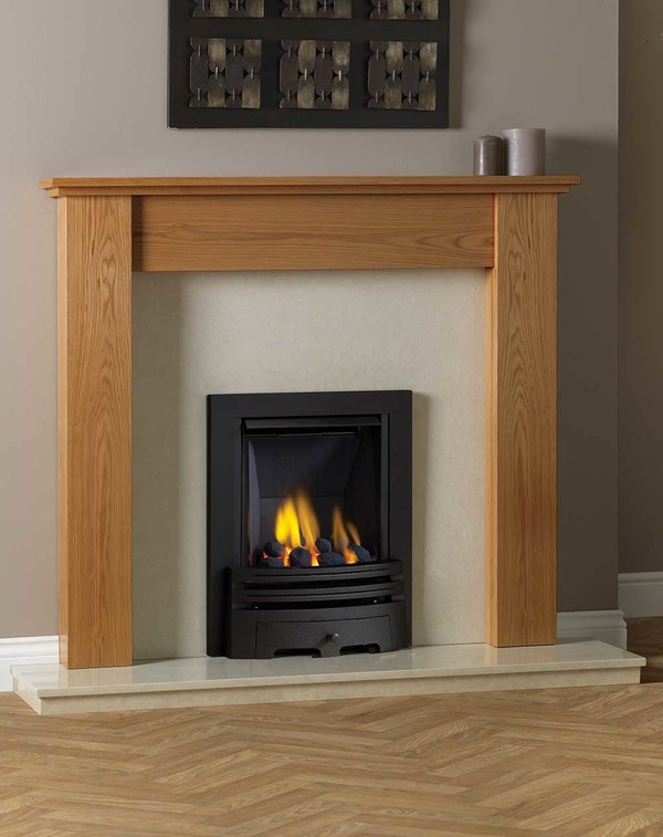 Appleby Fire Surround shown here in Golden Oak