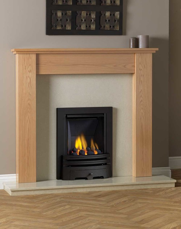 Appleby Fire Surround shown here in Clear Oak