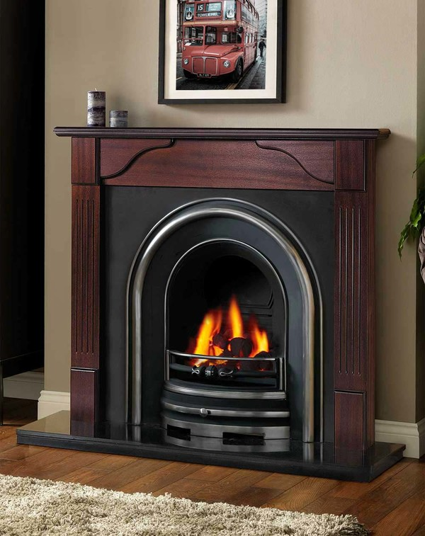 Avon Fire Surround Shown Here in Red Mahogany