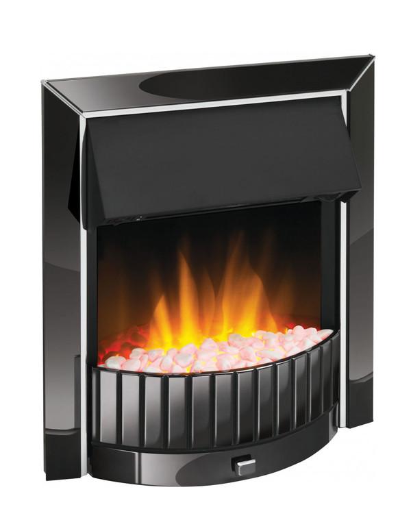 Delius Black Nickel Optiflame Electric Inset Fire