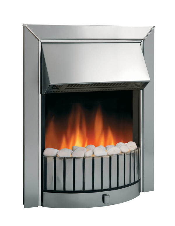 Delius Chrome Optiflame Electric Inset Fire