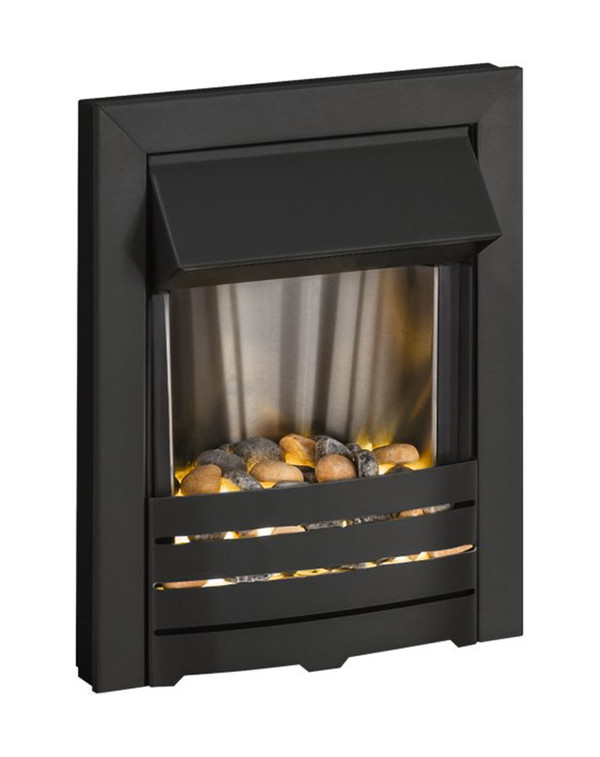 Helios electric fire in black