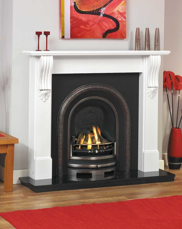 Bray Fire Surround, Shown Here in Brilliant White