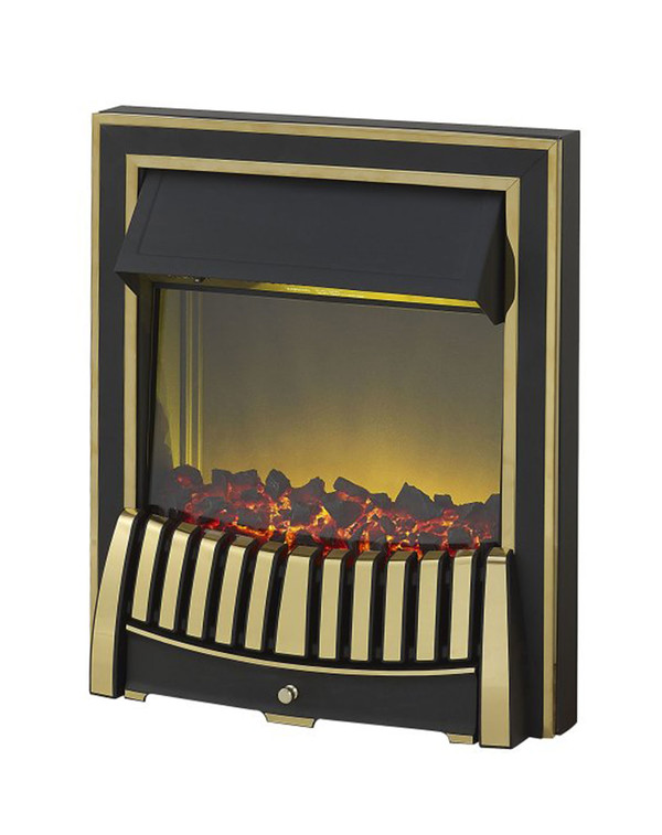 Elan Electric Fire in Brass and Black