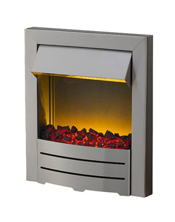 Colorado electric fire in Stainless Steel