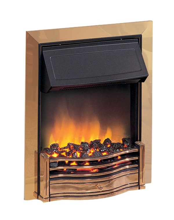 Danesbury electric fire in brass