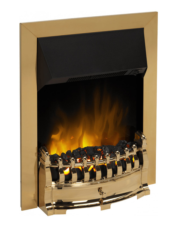 Stamford Electric Fire in Brass