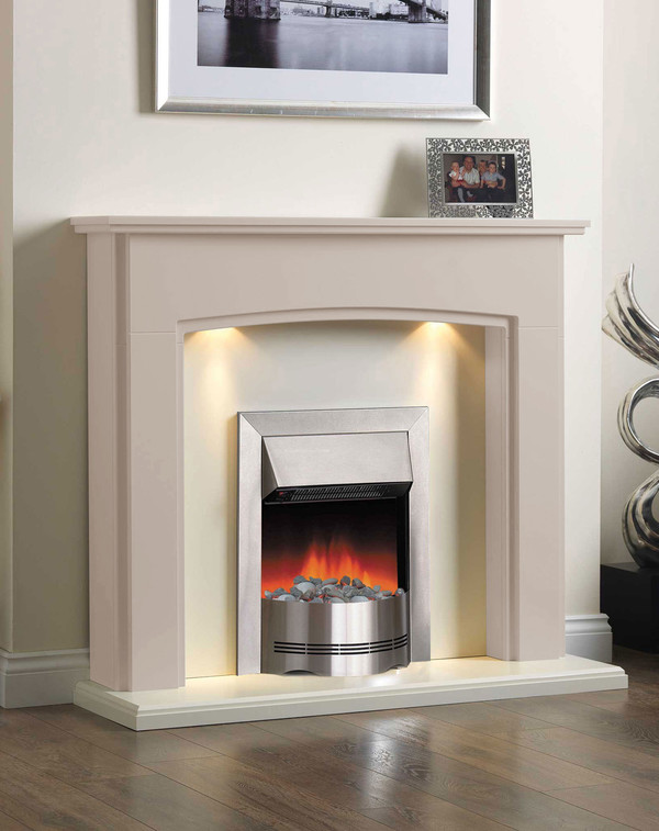 Electric Fireplace Suite in the Bespoke Colour Honey Beige