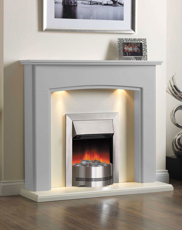 Electric Fireplace Suite in Mist