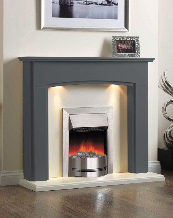 Electric Fireplace Suite in Slate
