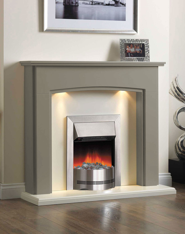 Electric Fireplace Suite in the Bespoke Colour Atlantic Green