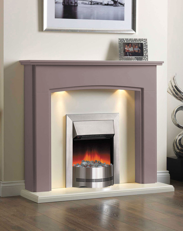 Electric Fireplace Suite in the Bespoke Colour Rose Grey