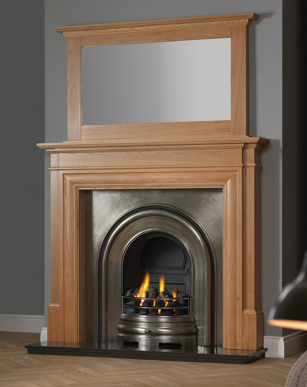 Castlebeck Fire Surround shown here in Clear Oak