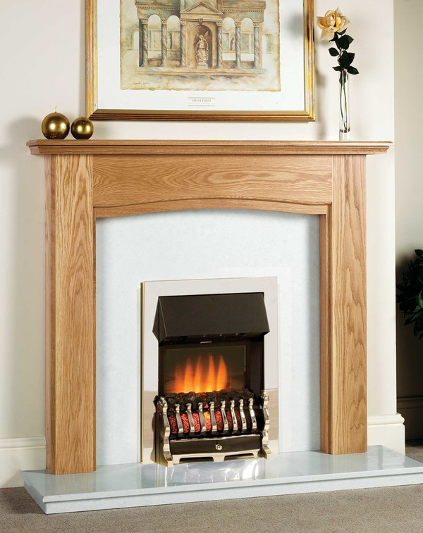 Chicago Fire Surround shown here in Clear Oak