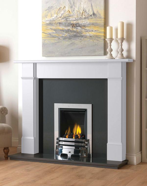 Fireplace Surround in Brilliant White