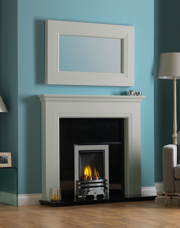 Rydale Fireplace Surround in Smooth Olive