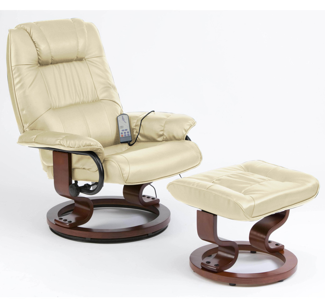 Napoli Heat and Massage Recliner Chair with Foot Stool