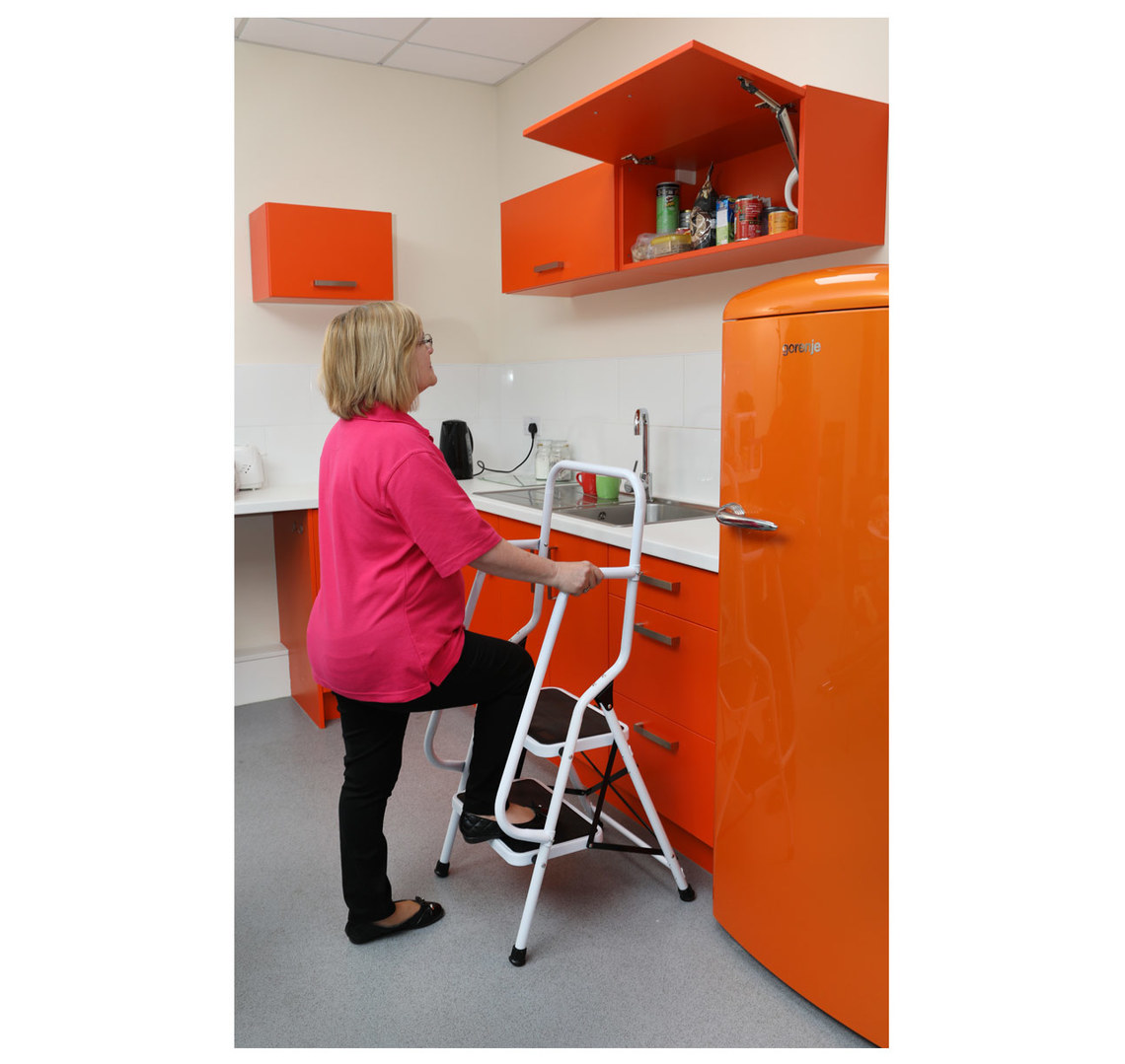 Miraculous Two Step Safety Ladder Pdpeps Interior Chair Design Pdpepsorg