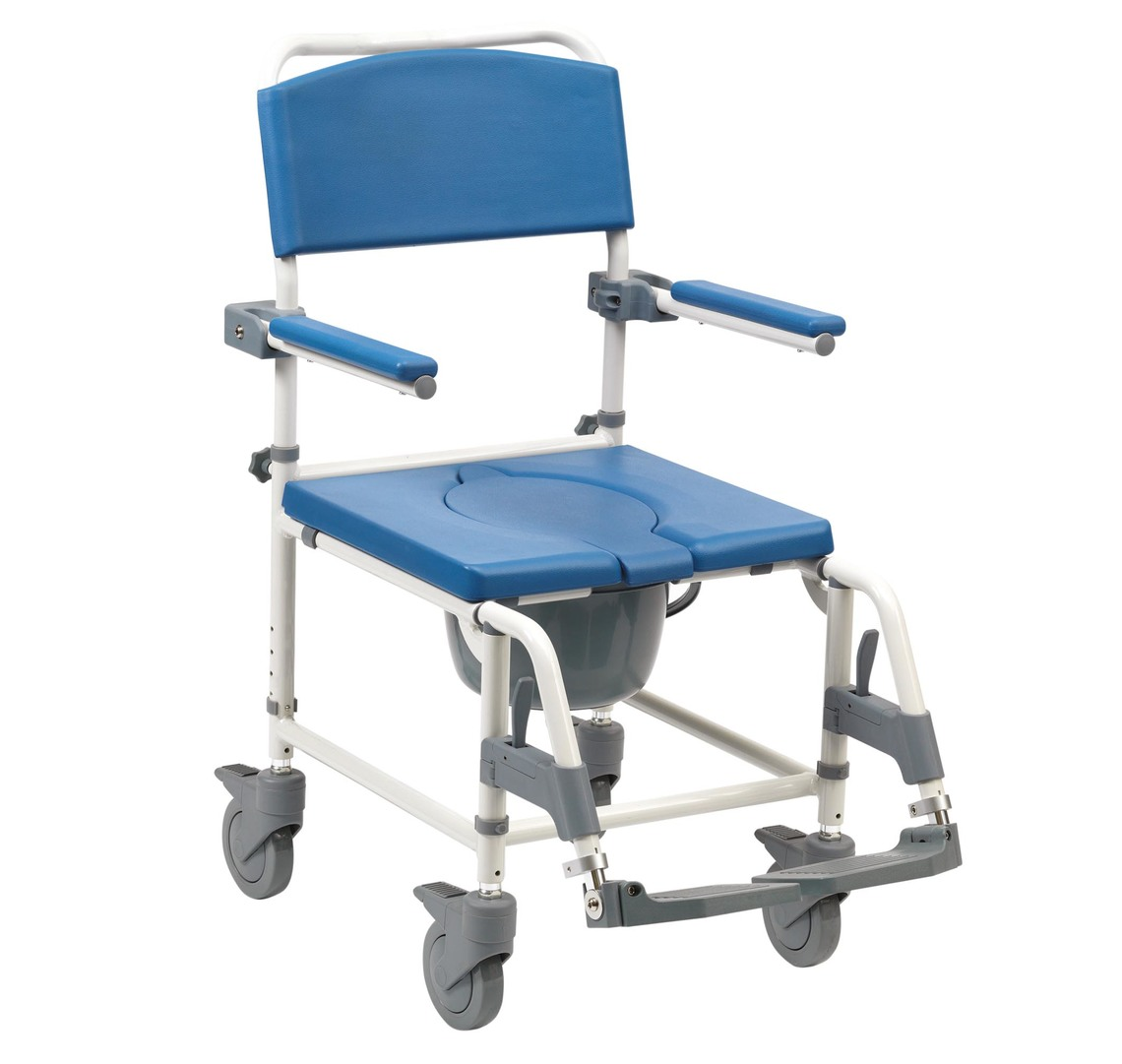 Aston Commode Mobile Shower Chair