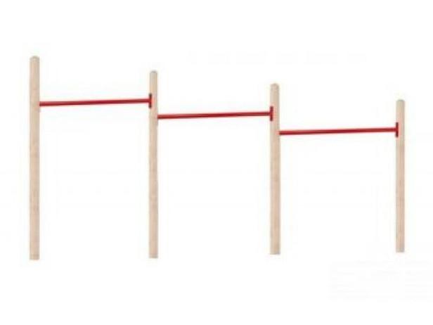 NuBuiten | Triple Duikelrek 125 | Rood