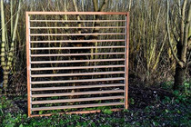 Flex Fence Hardhout | Horizontaal 180 x 180 cm | Schutter