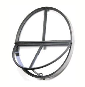 Ossenoog | Openklapbaar | 51 x 64 cm | Zwart | Dubbel glas