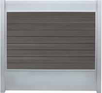 IdeAL | Scherm Zilver- Symmetry Graphite | 180x180 | 9 planks