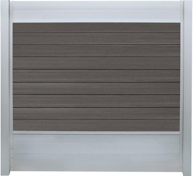IdeAL   Scherm Zilver- Symmetry Graphite   180x180   9 planks