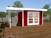 WEKA | Designhuis 126A Gr.1 | 445x240 cm | Zweeds rood