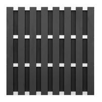 NewTechWood | Composiet tuinscherm 180x180 cm | Antraciet-Alu