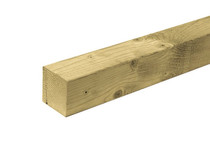 Paal Vuren | 12 x 12 cm | Geïmpregneerd | 300 cm
