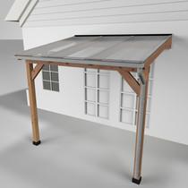 Westwood | Douglas Terrasoverkapping | Comfort | Opaal | 306x250cm | Muuraanbouw