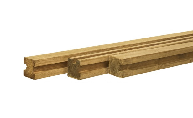Woodvision | Vierkante paal Grenen 88 x 88 | Eindpaal