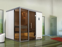 WEKA | Premium design | Sauna Bianco 2 L | 221 x 219 cm