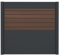 IdeAL | Scherm Antraciet- Symmetry Burnt Umber | 180x180 | 6 planks