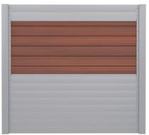 IdeAL   Scherm Zilver- Symmetry Cinnabar   180x180   6 planks