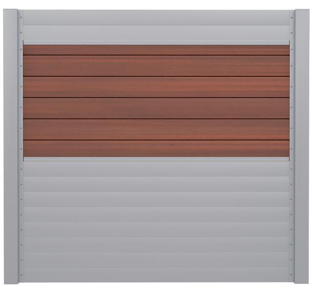 IdeAL | Scherm Zilver- Symmetry Cinnabar | 180x180 | 6 planks
