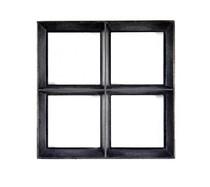 Stalen raam | Vast | 25 x 25 cm | Dubbel glas | Zwart gecoat