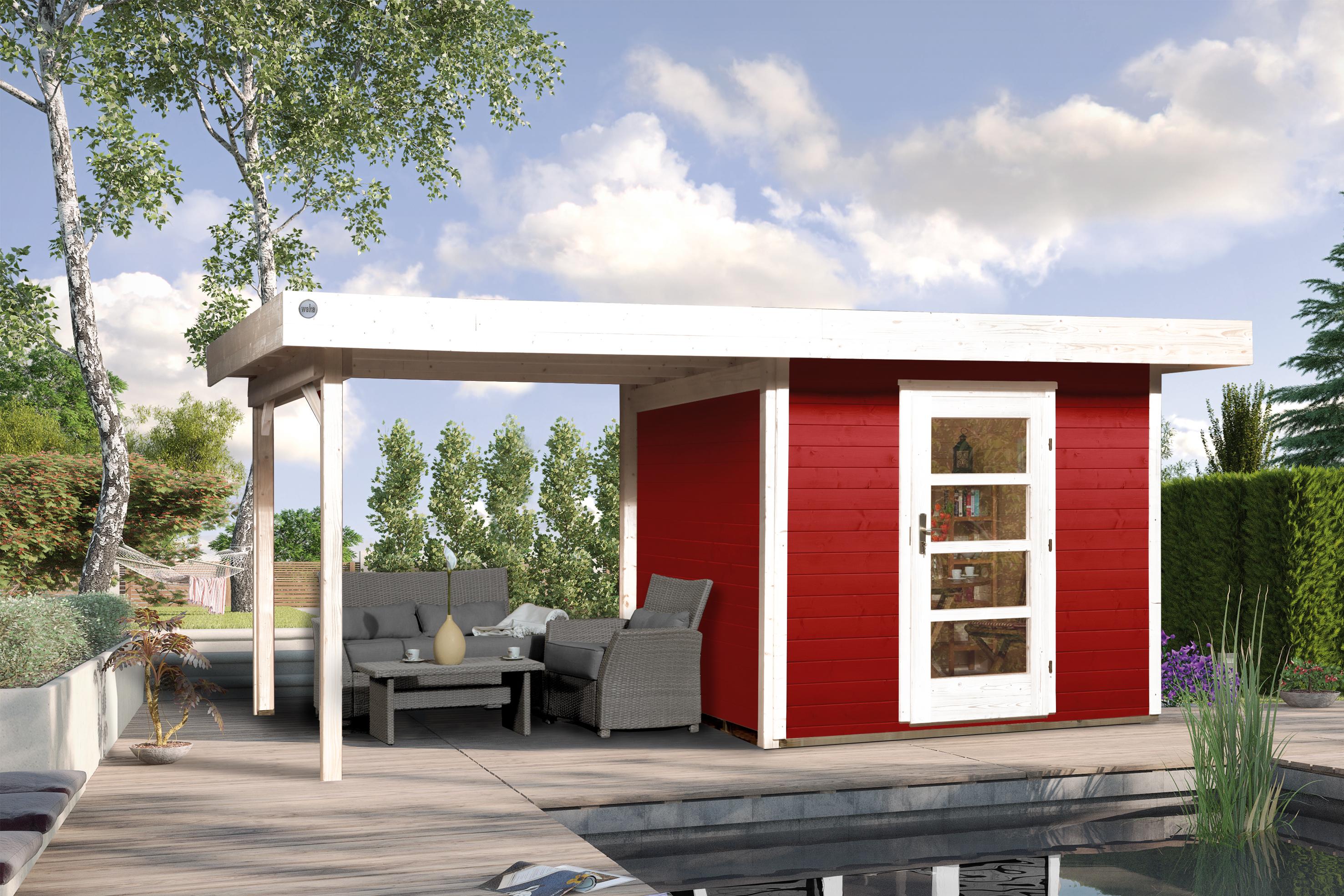 Blokhut | Designhuis 172B Gr.1 | 530 x 240 | WEKA | Zweeds rood