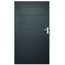 IdeAL | Aluminium poort met slotuitsparing