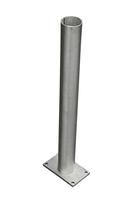 IdeAL | Aluminium paalhouder 60cm op plaat
