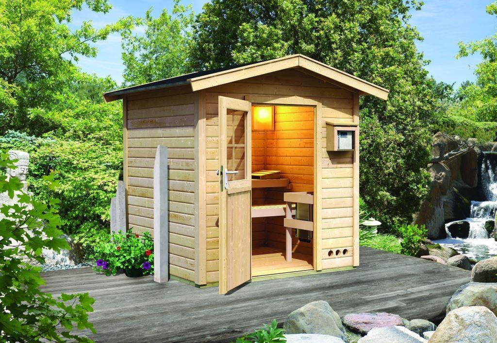Karibu | Sauna Lasse met voorruimte en 8 kW saunakachel