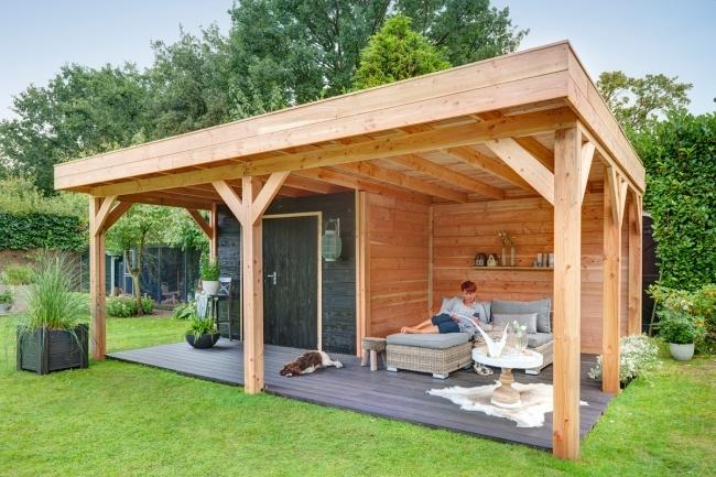 Douglasvision | Buitenverblijf 605 x 450 met veranda SHOWMODEL