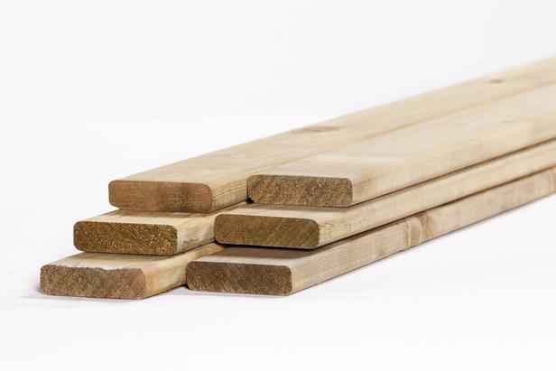 Tuinhout plank Vuren | 18 x 70 mm | 360 cm