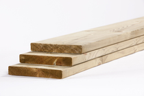 Tuinhout plank NE vuren | 28 x 195 360cm