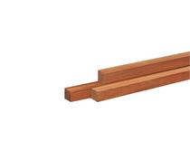Hardhouten paal | 70 x 70 mm | Azobé | 245 cm