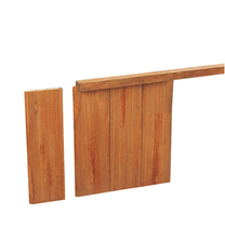 Geschaafd hardhouten damwand | 30mm | 300 cm
