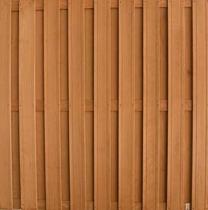 Keruing plankenscherm | 180x180cm | 17-planks