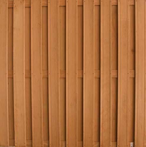 Keruing glad geschaafde lamellen met 2 v groeven lamellen: 15 x 140 mm 180 x 180 cm 17 planks