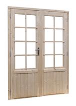 Woodvision | Vuren dubbele glasdeur 8-ruits Geïmpregneerd groen